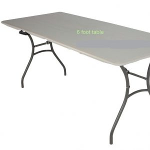 6′ Portable Party Table